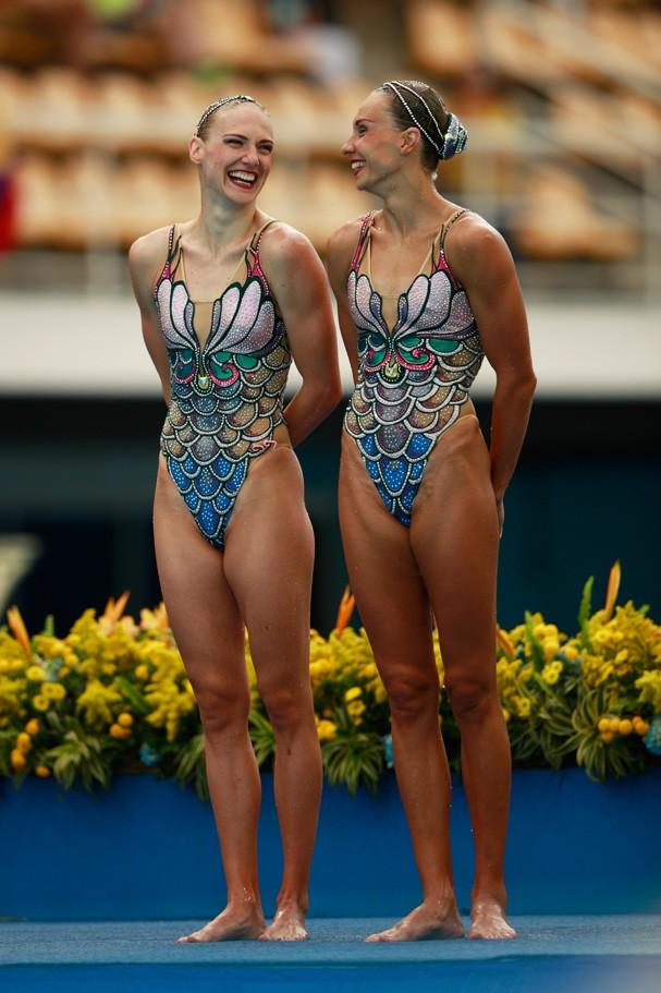 Natalia Ishchenko e Svetlana Romashina da Rússia (Foto: Getty Images/Adam Pretty)