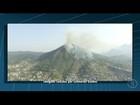 Incêndio atinge vegetação na Serra do Cavalo, em Teresópolis, no RJ