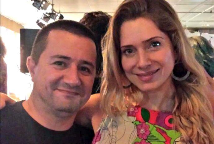 Tarcísio e a atriz Letícia Spiller, que vive Soraya em I Love Paraisópolis (Foto: Vitor de Oliveira)