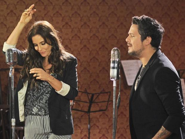 Ivete gravou a música com Sanz, em outubro passado, no Rio (Foto: CVianna)