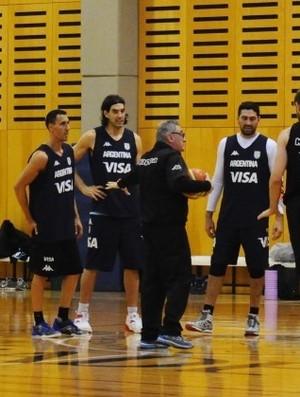 Scola, Laprovittola e outros atletas argentinos treinarão na Gávea (Foto: Divulgação)