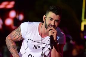 Gusttavo Lima em show em em Caldas Novas, Goiás (Foto: Leo Franco/ Ag. News)