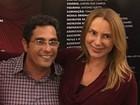 Marilene Saade se emociona com a presença de Stênio Garcia e do irmão