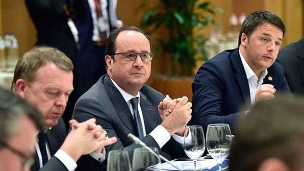 O presidente francês, François Hollande, foi um dos mais atuantes nas negociações, para impedir direitos especiais aos bancos britânicos. (Foto: BBC)