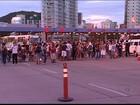 Com carro de som, manifestantes pedem redução da passagem, no ES