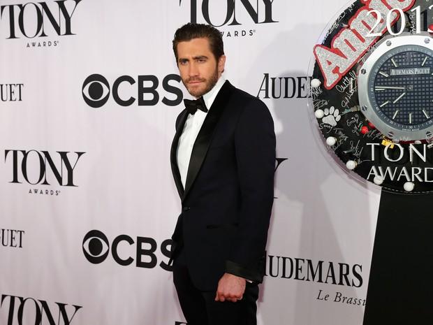 Jake Gyllenhaal no Tony Awards, em Nova York, nos Estados Unidos (Foto: Neilson Barnard/ Getty Images/ AFP)