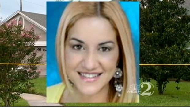 A brasileira Jorgete Acarie, morta em casa, em reportagem da NBC (Foto: Reprodução)