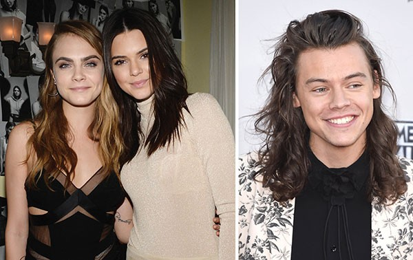Cara Delevingne, Kendall Jenner e Harry Styles (Foto: Getty Images)