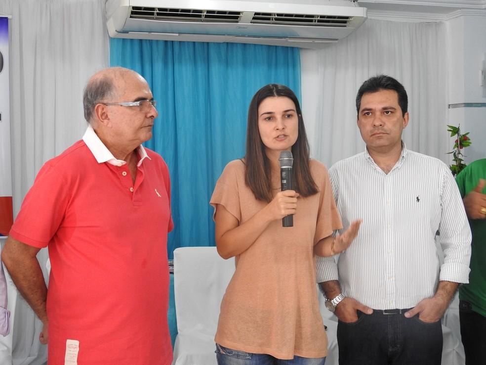 Garcia e Fraxe tiveram candidaturas confirmadas durante convenção em Manaus  (Foto: Ive Rylo/G1 AM)