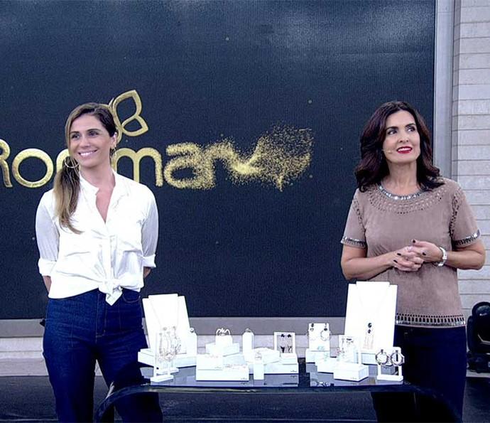 Giovanna e Fátima falam das joias folheadas Rommanel (Foto: TV Globo)