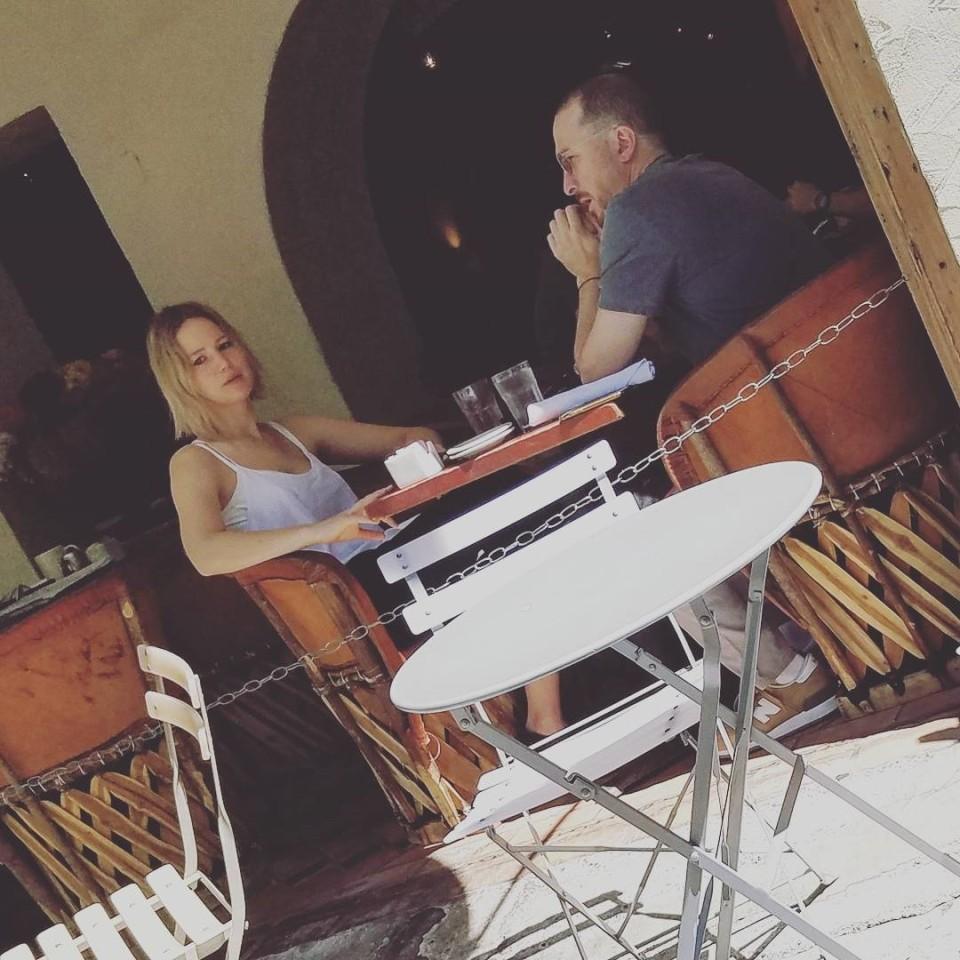 Jennifer Lawrence e Darren Aronofsky (Foto: Instagram)