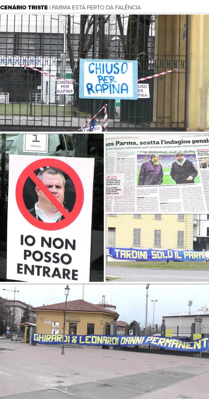 Mosaico Crise Parma (Foto: Claudia Garcia)