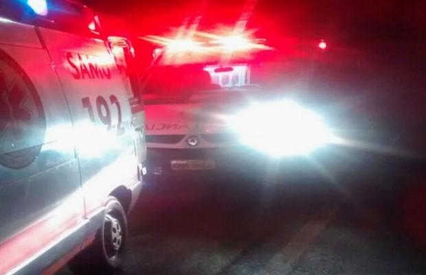 Ambulância que transportava Nicole quebrou na rodovia, próximo a Itumbiara, Goiás (Foto: Reprodução/TV Anhanguera)