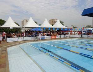 Disputas foram na piscina do Sesi Clube (Foto: Vinicius Lima/GloboEsporte.com)
