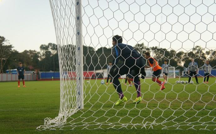Com defesa falha, Coreia do Sul levou três gols ainda no primeiro tempo do jogo contra a Argélia; mais ofensivo na volta do intervalo, marcou dois (Foto: Fabiula Wurmeister)