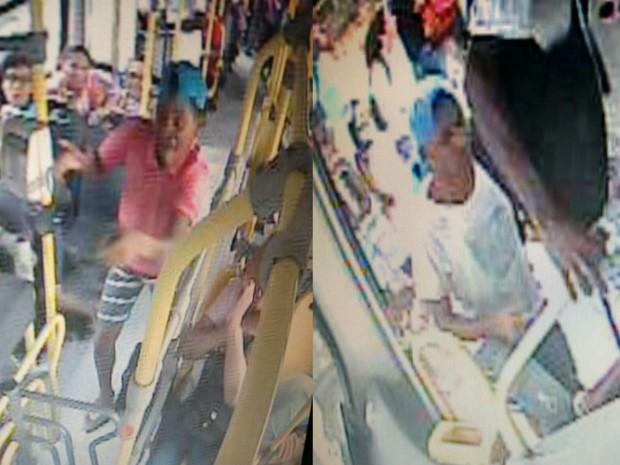 Câmeras de segurança flagraram ação dos assaltantes  (Foto: Divulgação / SSP-BA)