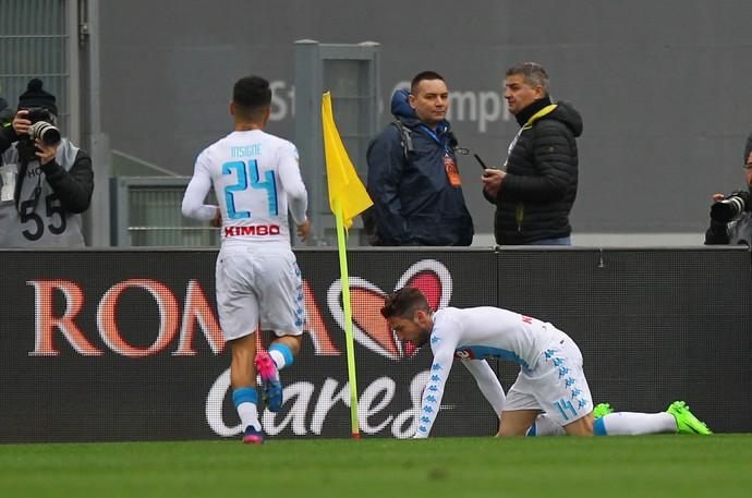 Mertens Napoli x Roma (Foto: AFP)