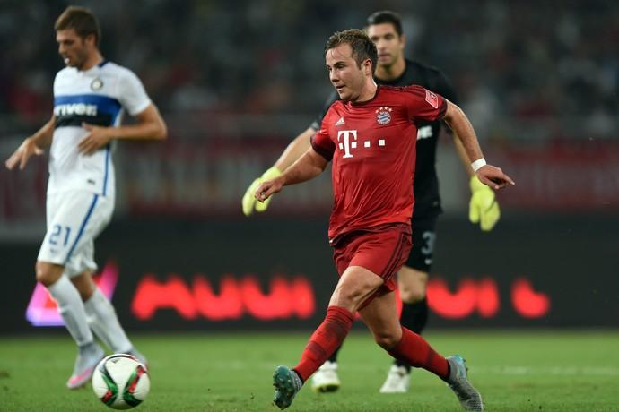 Götze Bayern x Inter de MIlão (Foto: JOHANNES EISELE / AFP )