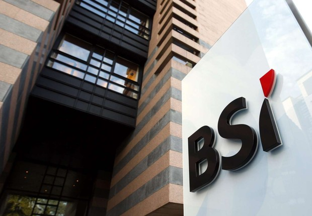 Logo da Banca della Svizzera Italiana (BSI) em Lugano, na Suíça (Foto: EPA/EFE)