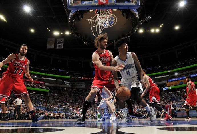 Elfryd Payton foi decisivo na vitória do Orlando Magic sobre o Chicago Bulls (Foto: Getty Images)