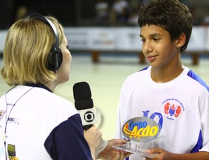 Santa Cecília na Copa TV Tribuna de Futsal (Foto: José Luiz Borges / TV Tribuna)