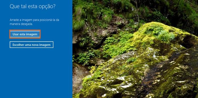 Confirme a adição da foto no ajuste pelo Windows 10 (Foto: Reprodução/Barbara Mannara)