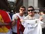 Klebber Toledo e Thiago Martins se divertem antes da final da Champions