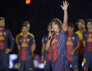 Puyol apresentação elenco Barcelona (Foto: Reprodução / Site Oficial)