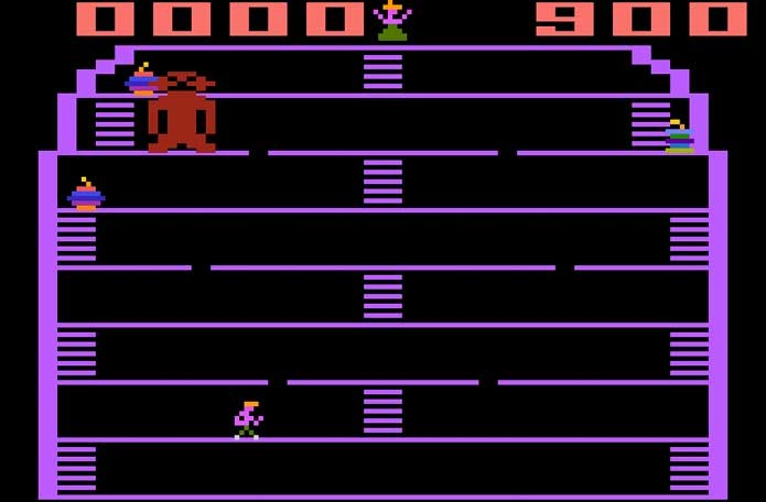 King Kong imitava mal o Donkey Kong (Foto: Reprodução/Atari Archives)