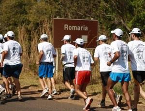 Corrida de revezamento Uberlândia-Romaria, edição 2011 (Foto: Divulgação/Futel)