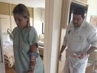 Vídeo: Andressa Urach faz sessão de fisioterapia em hospital