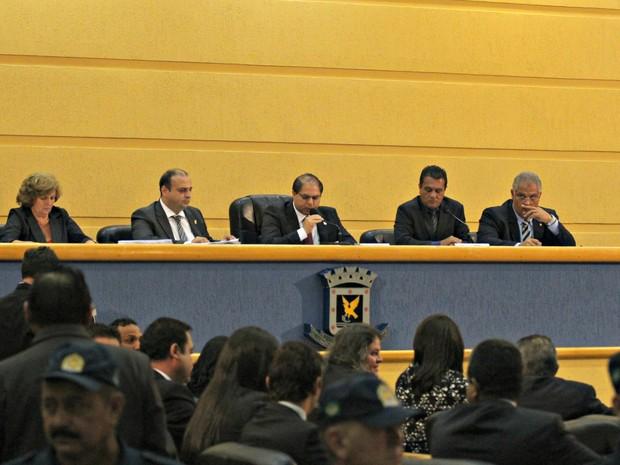 Plenário da Câmara Municipal de Campo Grande durante julgamento do prefeito Alcides Bernal (Foto: Lucas Lourenço/G1 MS)