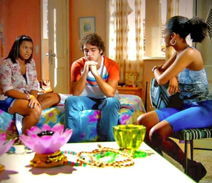Penha, Elano e Alana (Foto: TV Globo)