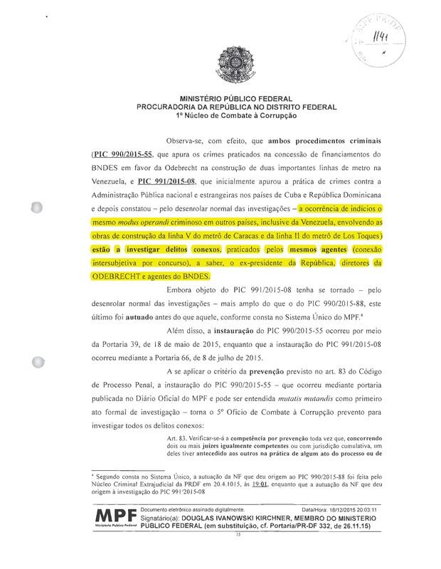 Ministério Público - Lula - Odebrecht 2 (Foto: Reprodução)