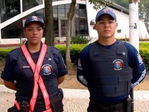 Guarda armada começa a atuar nas ruas de Vila Velha, Espírito santo (Foto: Reprodução/TV Gazeta)