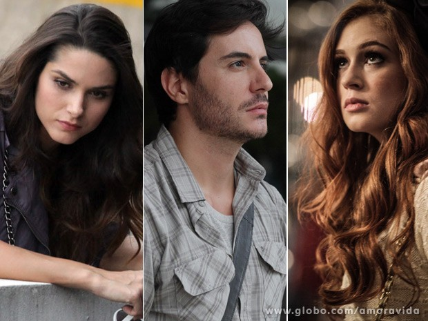 Leila, Thales e Nicole: triângulo amoroso (Foto: Amor à Vida / TV Globo)