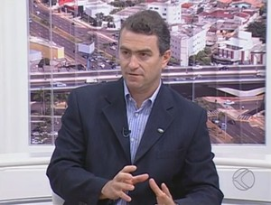Fábio Pergher empresário Uberlândia Basquete (Foto: Reprodução/TV Integração)