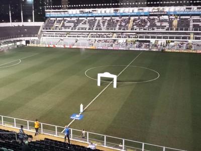 Vila Belmiro para Santos x Atlético-MG (Foto: Léo Simonini)