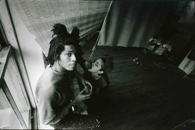 Jean-Michel Basquiat e Madonna quando eram namorados  (Foto: Reprodução Instagram)