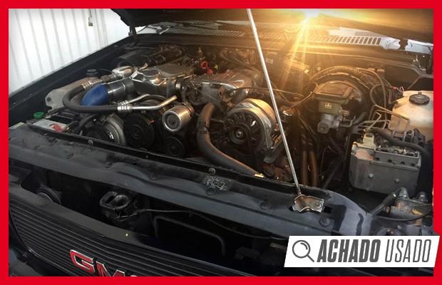 Motor V6 4.3 Vortec do Typhoon seria utilizado na Blazer nacional depois (Foto: Reprodução)