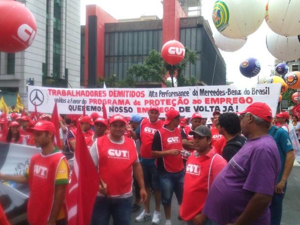 Manifestantes bloqueiam sentido Consolação (Foto: Arquivo Pessoal)