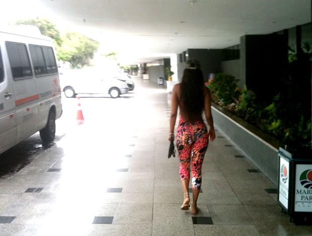 fanny neguesha namorada de balotelli hotel (Foto: Marcos Montenegro)