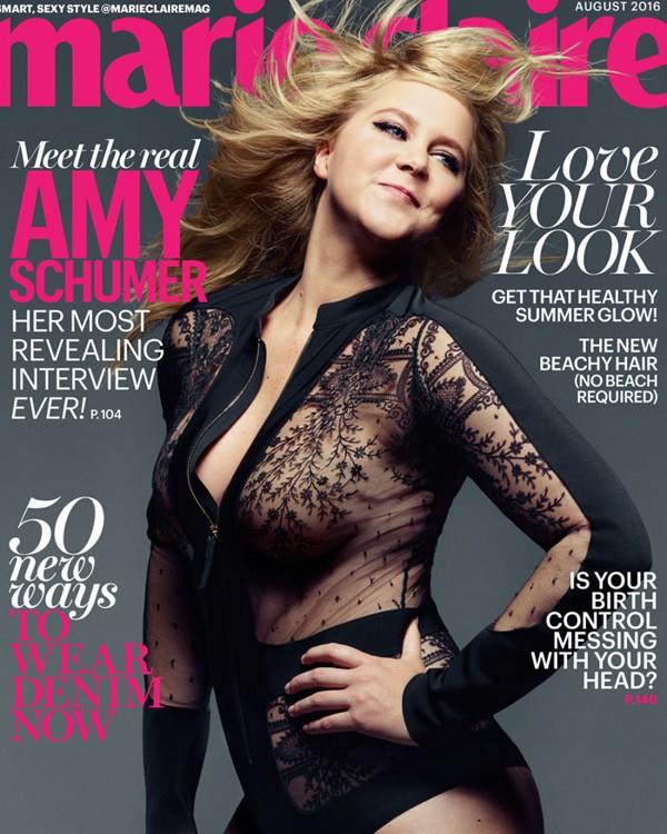 Amy Schumer na capa de julho da Marie Claire US (Foto: Divulgação)