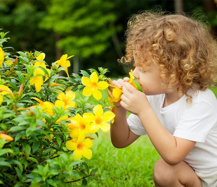Quando seus filhos estiverem em contato com a natureza, deixe-os livres para explorarem e descobrirem (Foto: Divulgação)