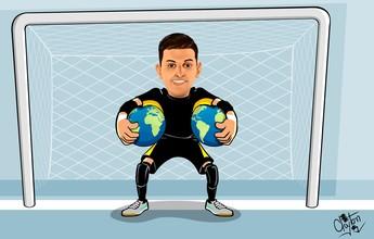 Charge: as duas conquistas mundiais do goleiro Luan, do Sorocaba Futsal