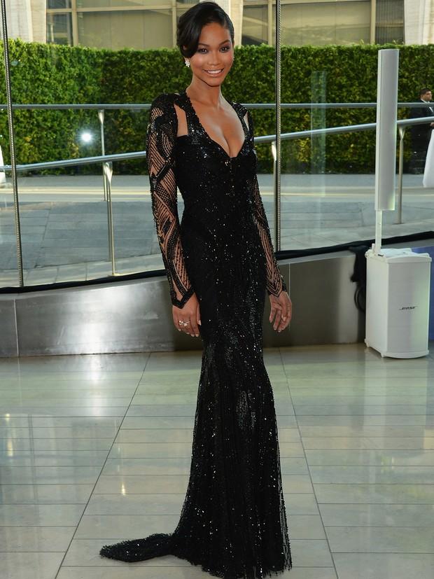 Chanel Iman no CFDA Awards (Foto: AFP / Agência)