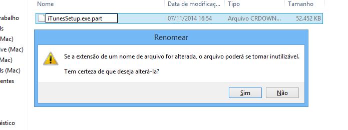 Renomeie o arquivo gerado pelo Chrome (Foto: Reprodução/Helito Bijora)