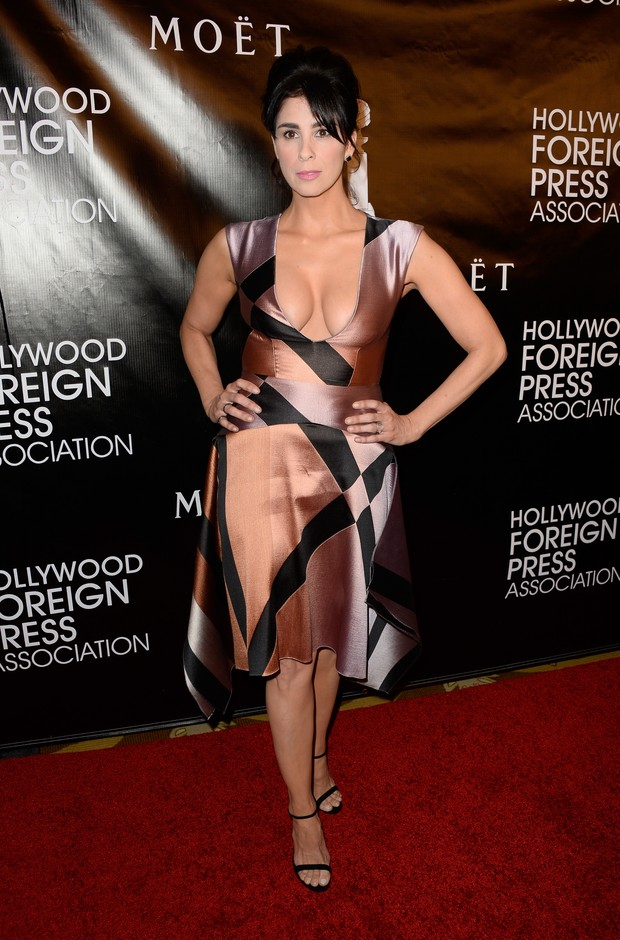 Sarah Silverman em evento em Los Angeles, nos Estados Unidos (Foto: Frazer Harrison/ Getty Images/ AFP)
