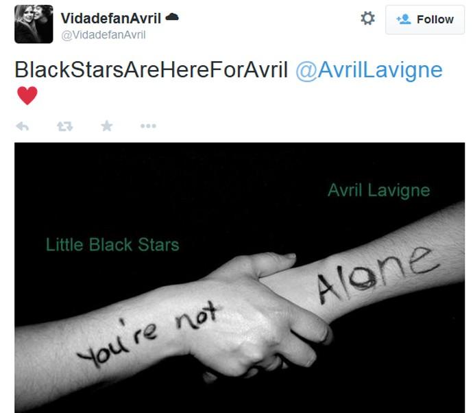Fãs demonstram apoio a Avril Lavigne após ela revelar doença