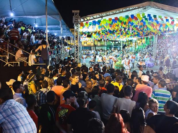Final do Festival de Quadrilhas em João Pessoa atraiu grande público. (Foto: Rafael Passos / divulgação)